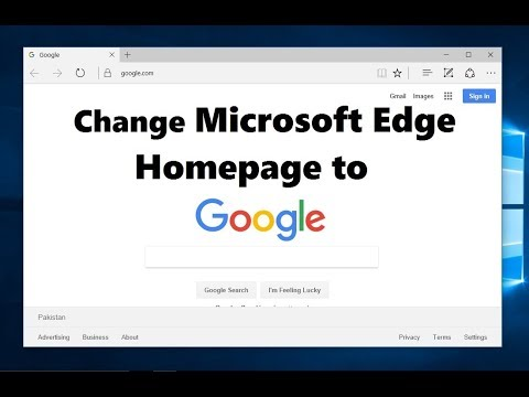 How to make google my homepage on windows 10