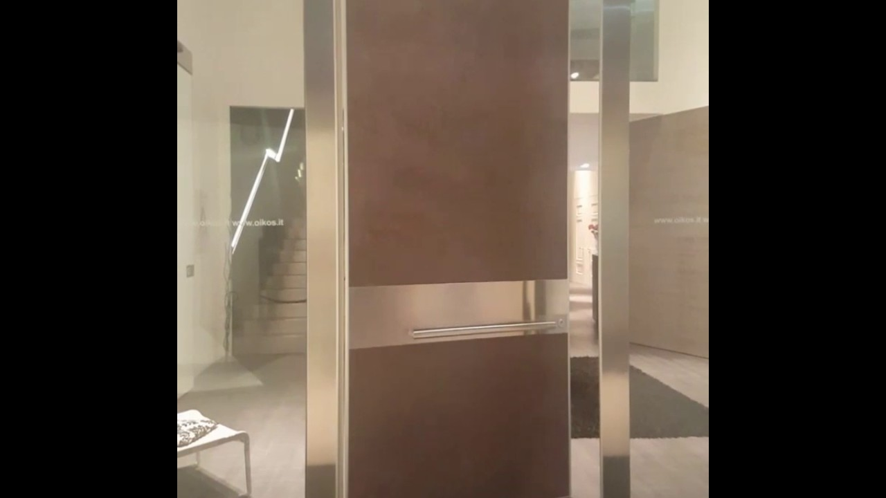 Oikos pivot doors by Simpas /partner in Greece & Oikos pivot doors by Simpas /partner in Greece - YouTube