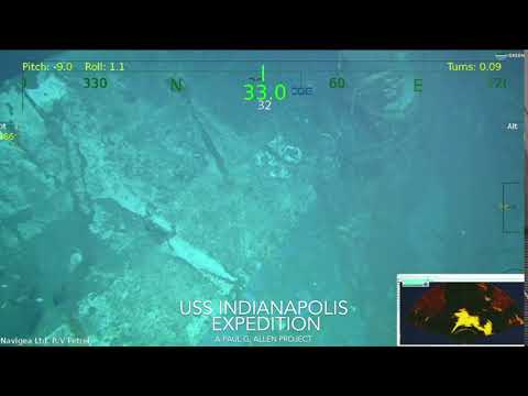 The USS Indianapolis Expedition - Petrel Feed 35 (Courtesy of Paul G. Allen)