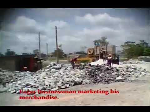 Children working in granite crushing site