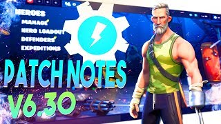 *FREE REWARDS BOII!* Fortnite STW V6.30 Patch Note