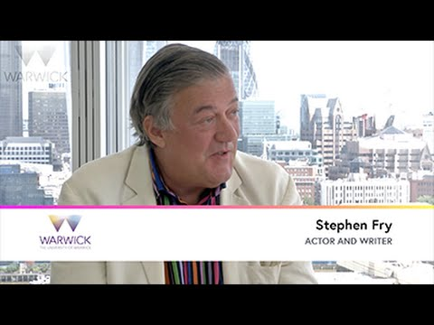 Discussing poetic form with Stephen Fry