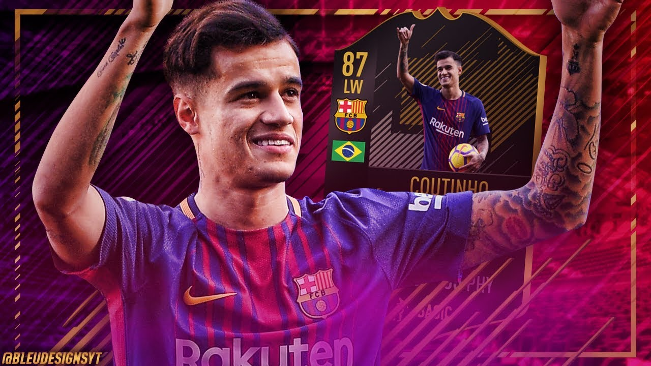 FIFA 18 THUMBNAIL SPEEDART #12: PHILIPPE COUTINHO ONES TO WATCH BARCELONA CARD / OTW TRANSFER PACK