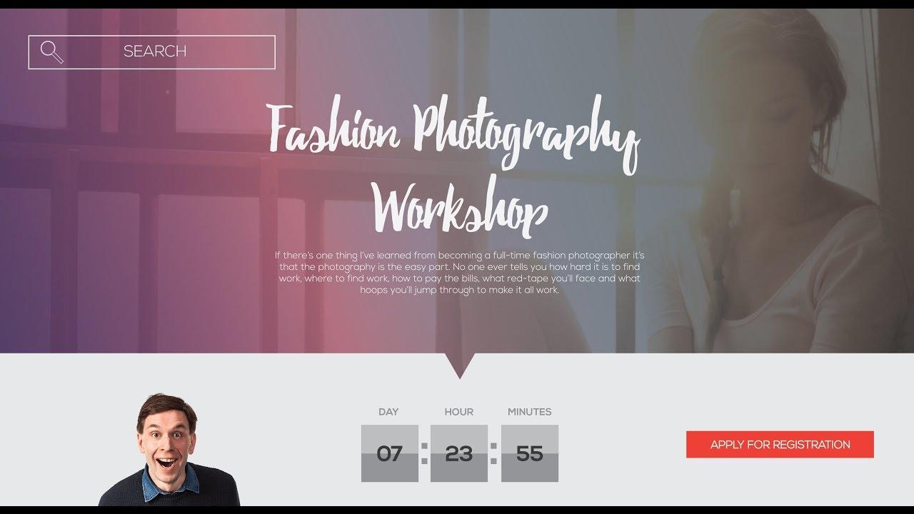 Web design   ui/ux   adobe illustrator cc   tutorial ( photography.