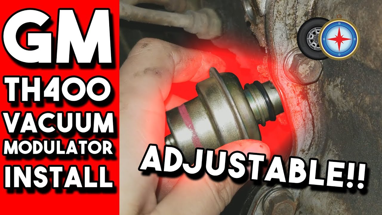 TH400 Turbo 400 Transmission NEW Adjustable RED Stripe Vacuum Modulator