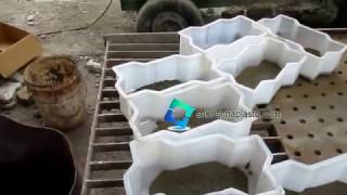Plastic Paver Mould Using With Vibration Table