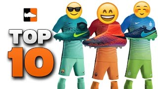 Top 10 boot & kit combinations! football shirts & soccer cleat combos 2016/17