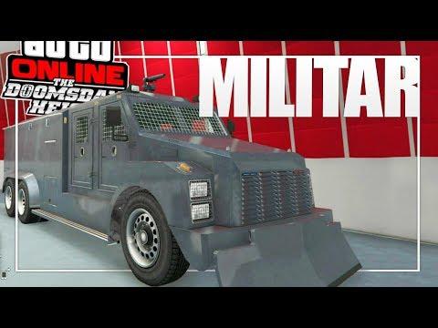 """GTA ONLINE: NOVOS VEÍCULOS MILITARES #2 (BARRAGE & ANTITUMULTO)! - Nova DLC """"Golpe do Juízo Final"""""""