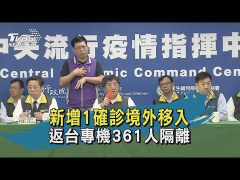 【TVBS新聞精華】新增1確診境外移入 返台專機361人隔離