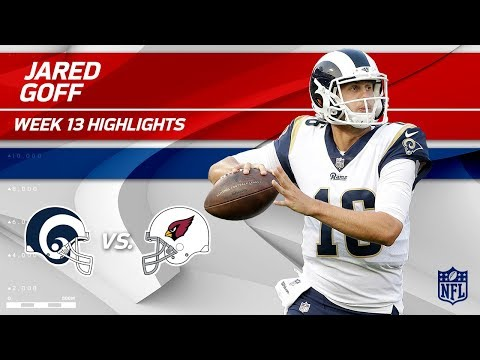 Jared Goff Gets the Win w/ 2 TDs vs. Arizona! | Rams vs. Cardinals | Wk 13 Player Highlights