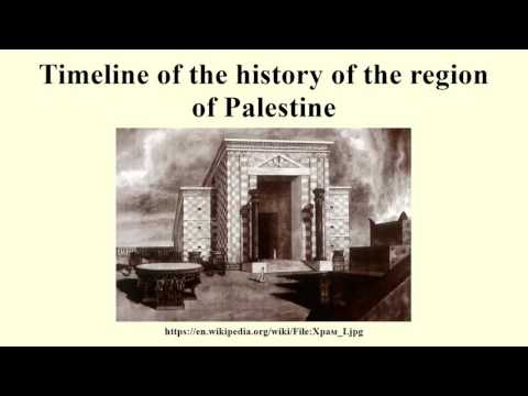 Timeline of the history of the region of Palestine