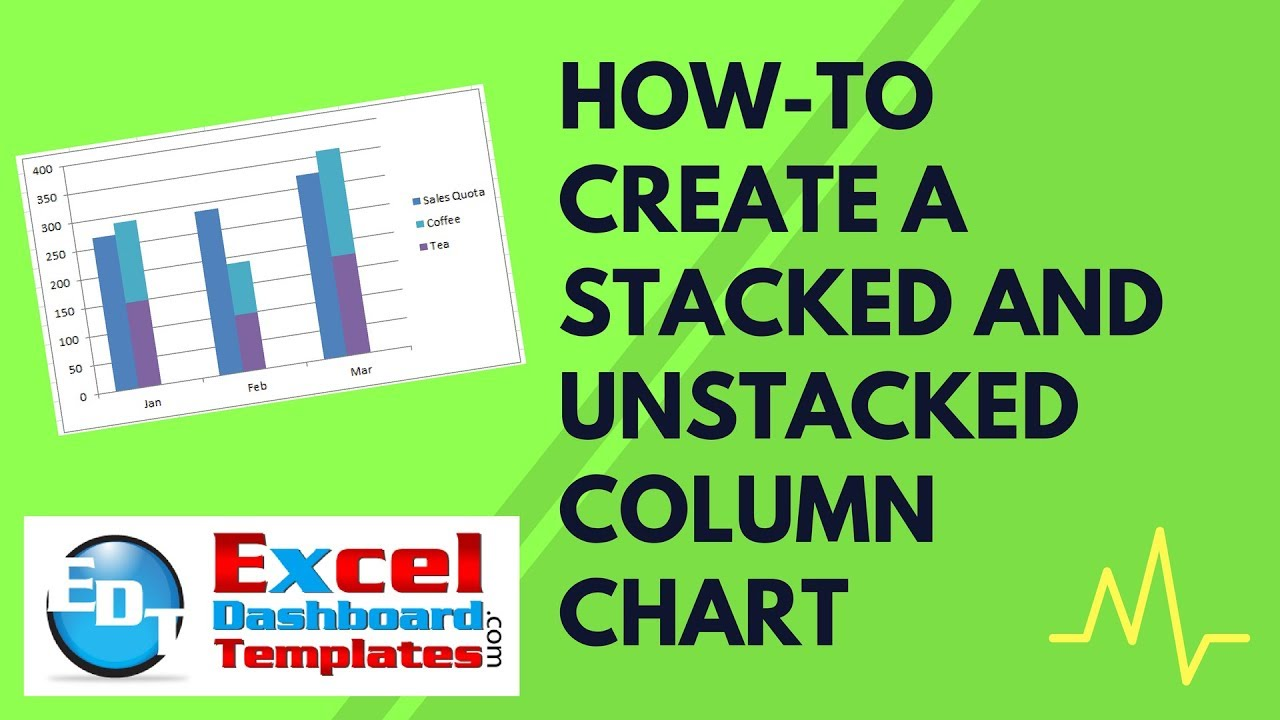How To Create A Stacked And Unstacked Column Chart In Excel Youtube
