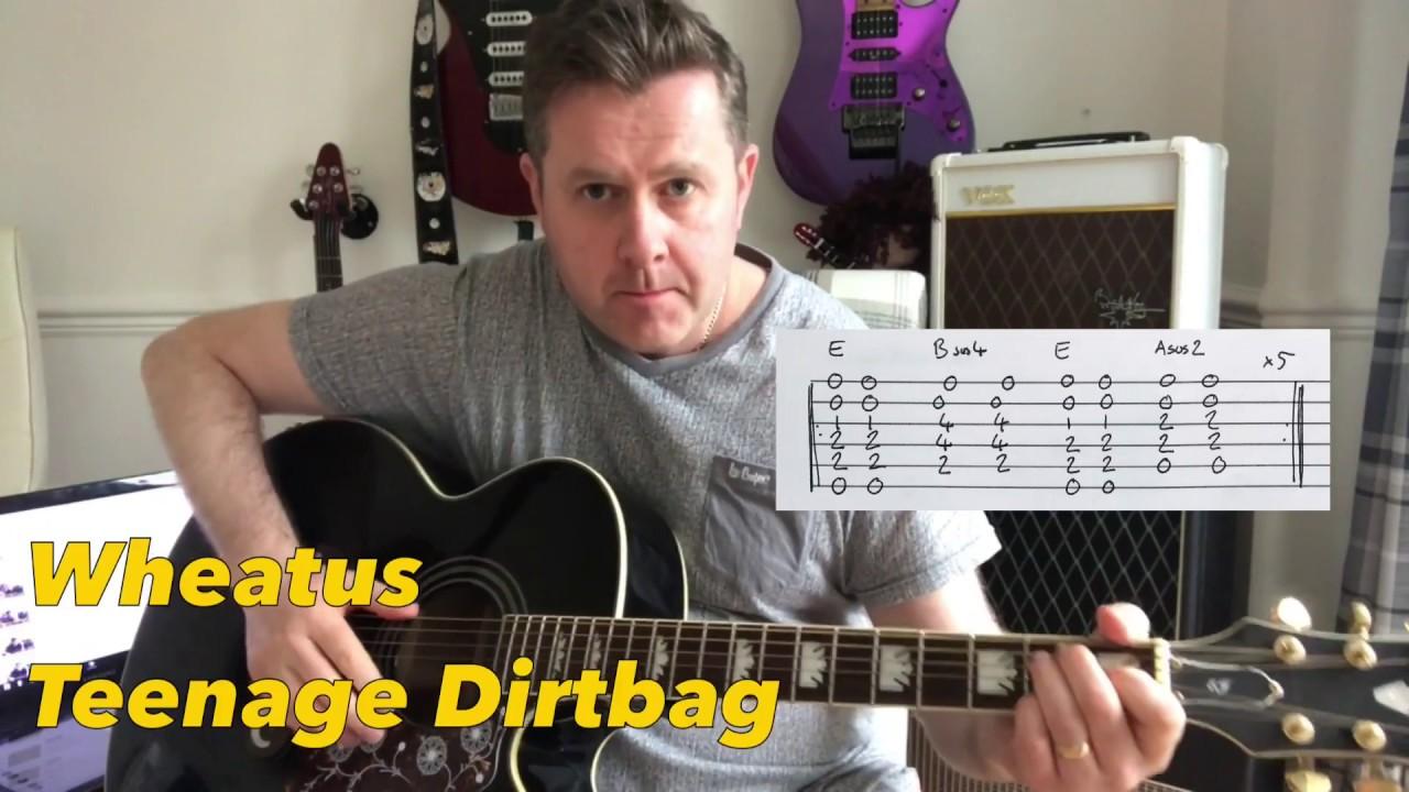 Teenage dirtbag acoustic guitar chords wheatus youtube.