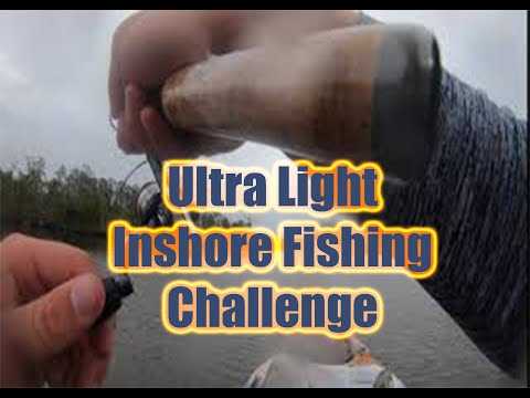 Ultra Light Fishing Rod: Inshore Fishing Challenge!!!