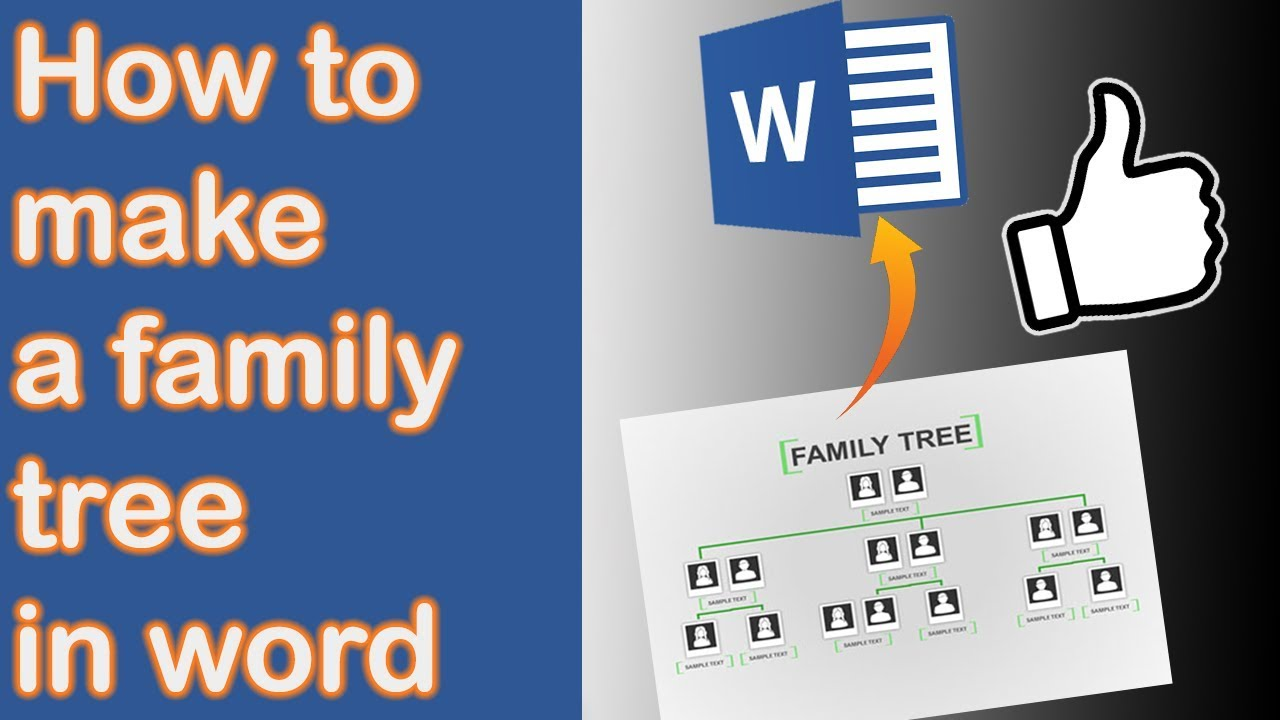 how to make a family tree in word 2013  new version in desc