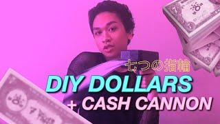 DIY 7 RINGS DOLLARS + CASH CANNON! Ariana Grande Sweetener Tour Video