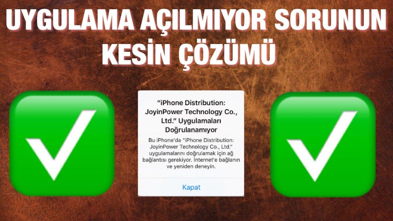iPhone Uygulama Doğrulanamıyor Sorunu Çözümü