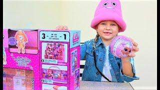 Крутая ПОДСТАВКА для кукол ЛОЛ ! Алиса нашла ЧЁРНЫЙ ШАРИК с сюрпризом ! Мими Лисса
