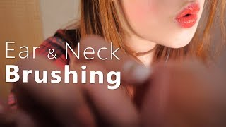 ASMR Ear & Neck Brushing 👂(BASS Boosted, Ear Blowing, Various, Face Brushing)