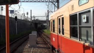 阪神武庫川線7890形と7861形東鳴尾駅の交換