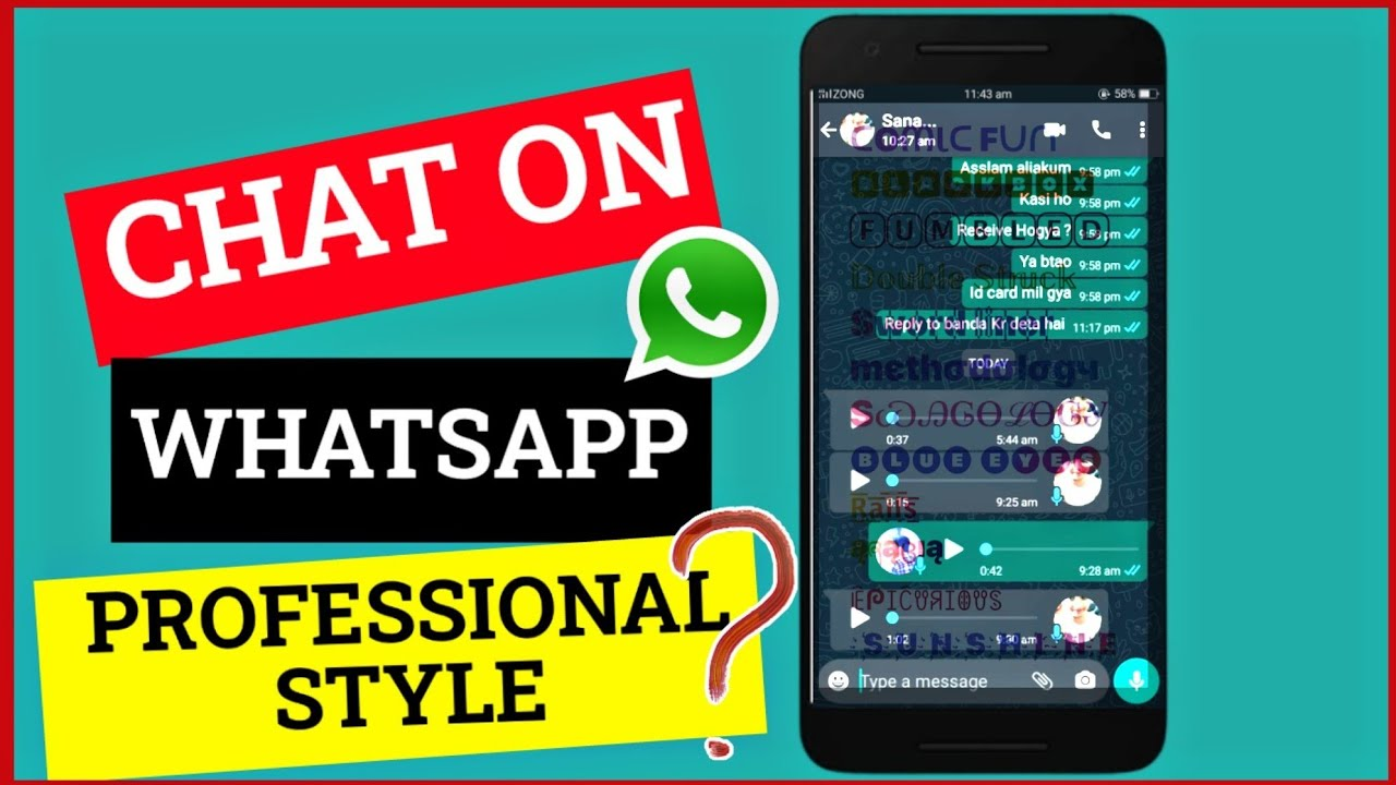 Chat on Whatsapp in Professional Style 2020 !