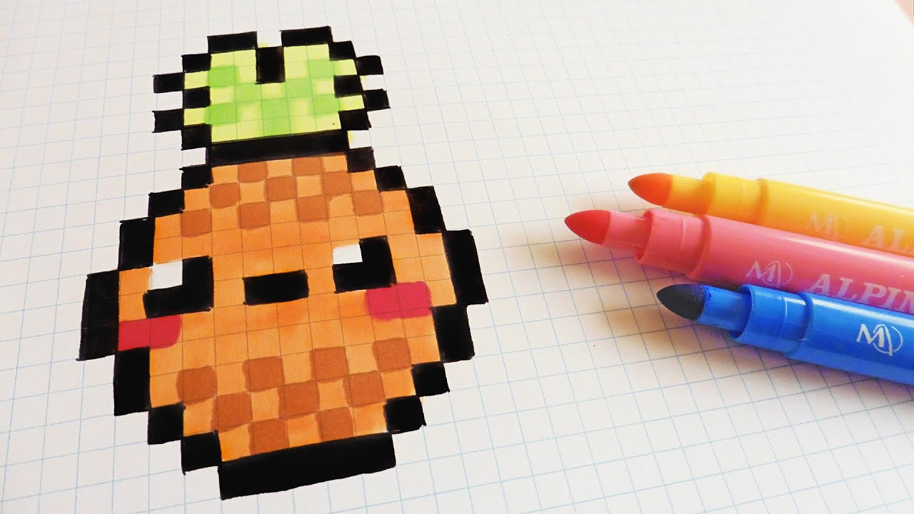 Handmade Pixel Art How To Draw Kawaii Pineapple Pixelart