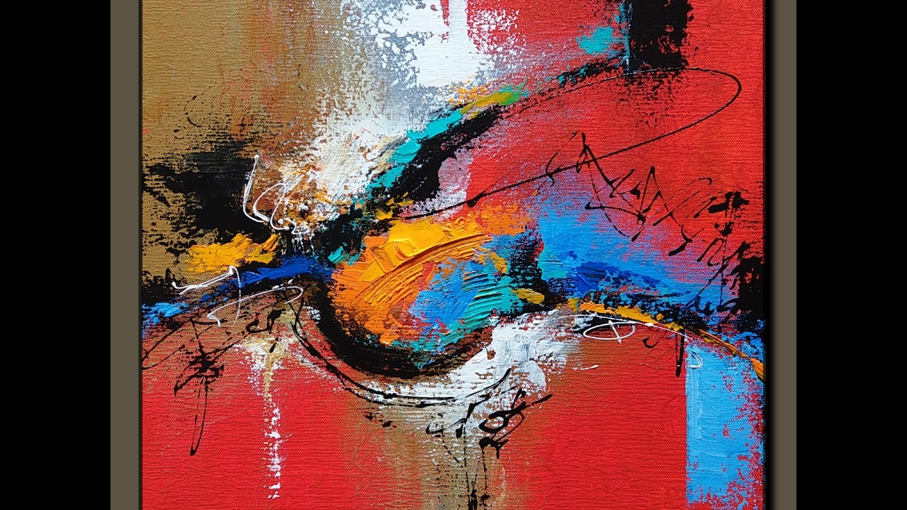 Acrylic abstract painting # make your own art ...