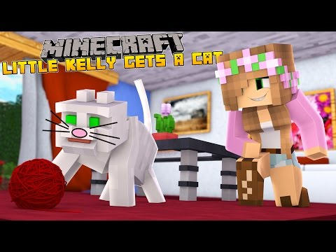 Minecraft - LITTLE KELLY GETS A NEW PET CAT!