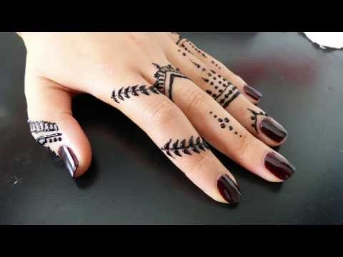 Henna Tattoo رسم نقش حناء جميل وانيق للاصابع Youtube