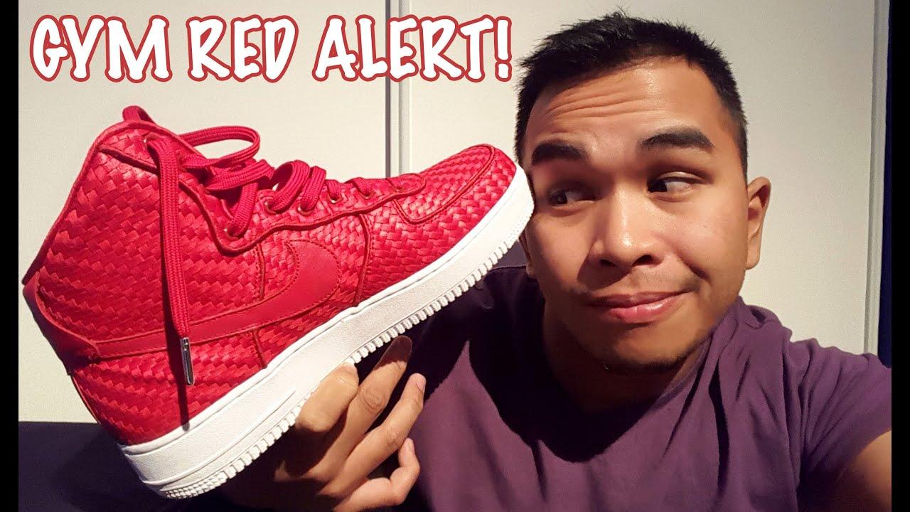Última Air Pickup Nike Air Última Force 1 Woven Gimnasio Rojo + Sobre Pies Youtube 18e5c4