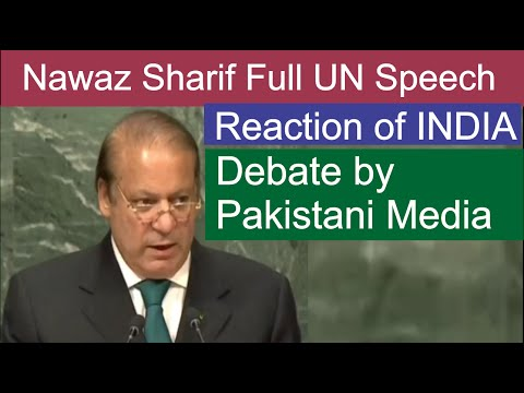 Nawaz Sharif Speech In UN General Assembly 21 Sep 2016  | Latest Pakistani News