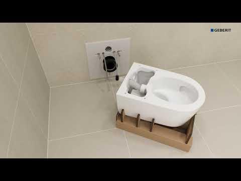 Geberit Aquaclean Sela Dusch WC die Installation