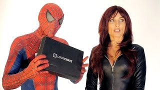 LOOTCRATE UNBOXING with Spider-man and Black Widow