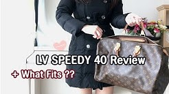 Louis Vuitton Speedy 40 Review, Mod Shots,What Fits Inside?