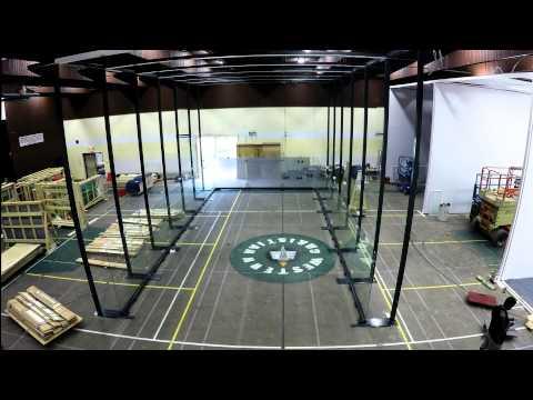 Regina Racquet Club -  All-Glass Racquetball Court Installation Timelapse (fast)