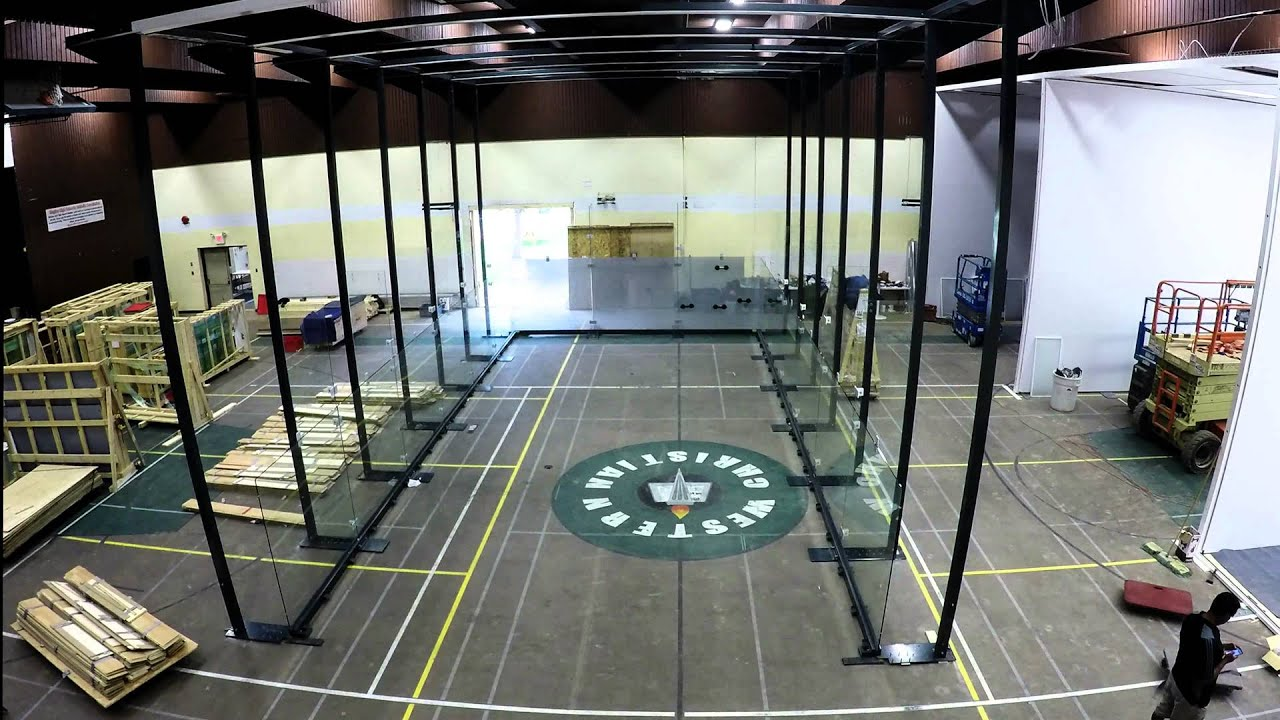 Regina Racquet Club All Gl Racquetball Court Installation Timelapse Fast