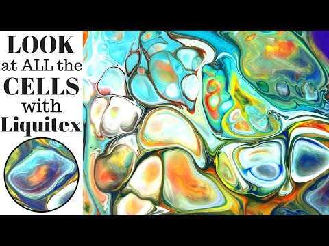 Get BIG CELLS Making Fluid Art with XIM and Liquitex Pouring Medium