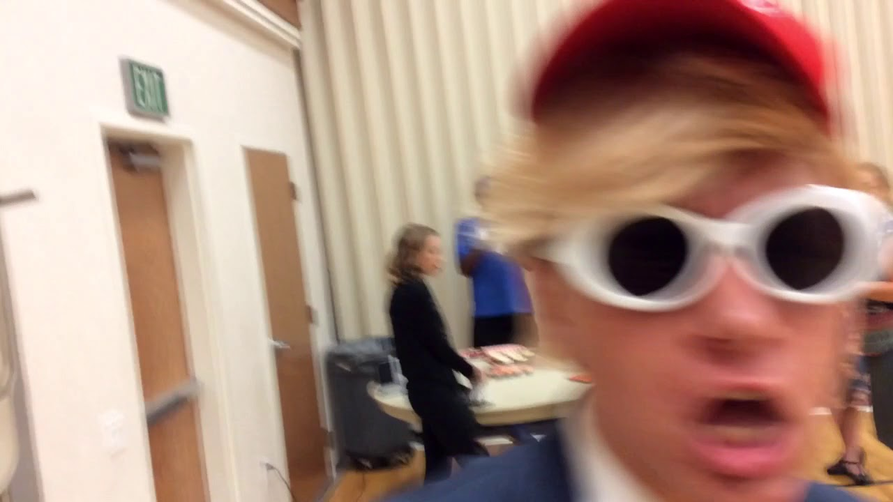 ae7cb48c99 Donald Trump Plays Piano With Clout Goggles On - YouTube