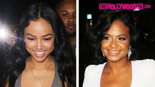 Karrueche Tran & Christina Milian Party While Her Sister Says Chris Brown Texts Her Daily 2.8.16