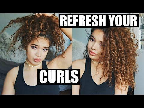 HOW TO REFRESH CURLS | 2ND, 3RD DAY HAIR