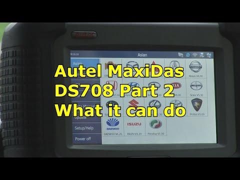 Autel MaxiDas DS708 All Systems,What it can do, Part 2 | Automotive Diagnostics