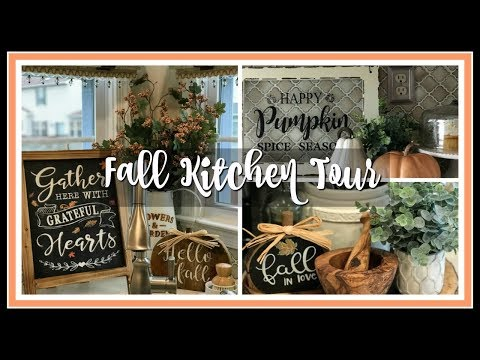 2018 Fall Farmhouse Chic Kitchen Tour | Fall Famhouse Kitchen Decor