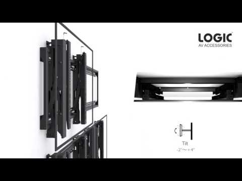 LGVW04 Video Wall Mounting Installation System mp4video