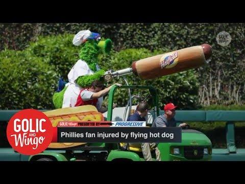 Phillie Phanatic hot dog incident is the latest odd baseball-related injury | Golic & Wingo | ESPN