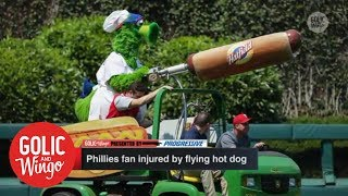 Phillie Phanatic hot dog incident is the latest odd baseball-related injury | Golic & Wingo | ESPN