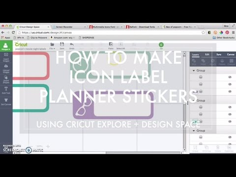 How To Create Icon Label Stickers in Design Space with Cricut Explore