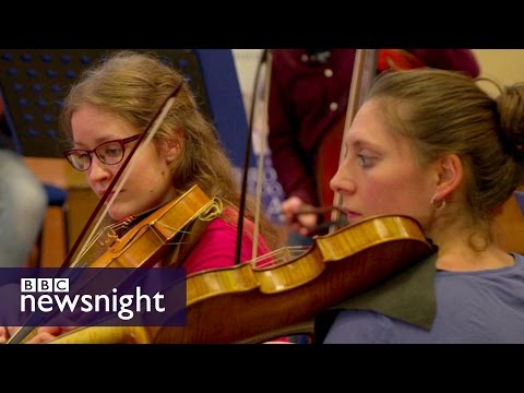 Facing the music: Brexit and the European Union Baroque Orchestra - BBC Newsnight