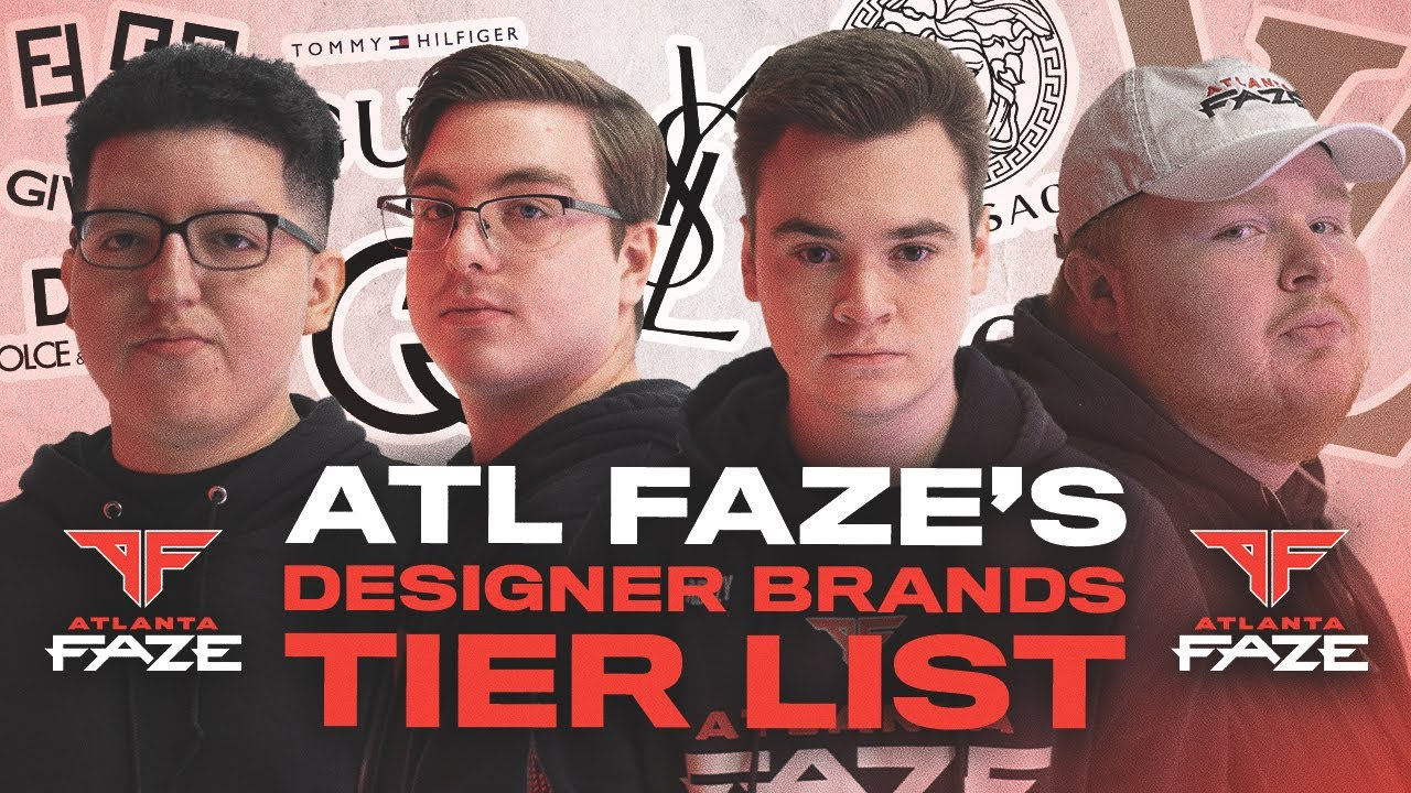 ATLANTA FAZE RANKS THEIR FAVORITE DESIGNER CLOTHING BRANDS | DESIGNER TIER LIST