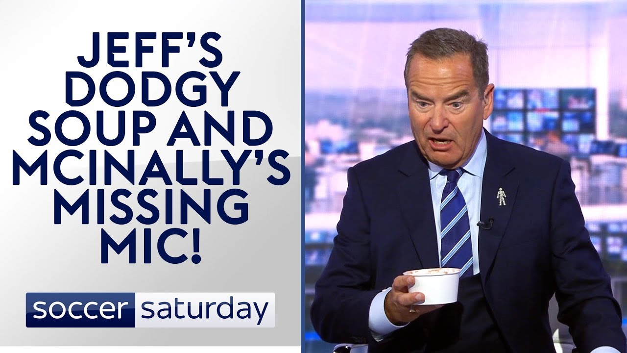 Jeff Stelling's sickly soup! | Soccer Saturday Funniest Moments | October 2017