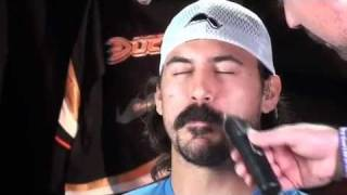 George Parros Shaves His Moustache For Movember